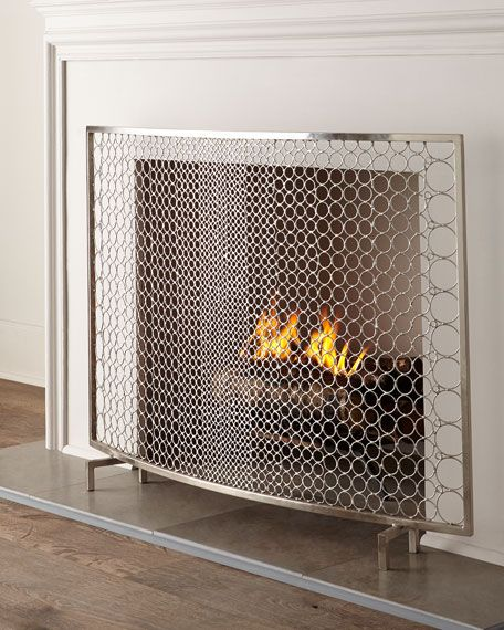 ima fireplace screen cover simple modern contemporary custom