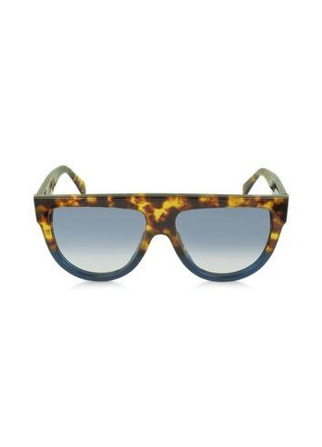 88fe71b07c54a C line CL41026 S Shadow Havana Blue Acetate Sunglasses