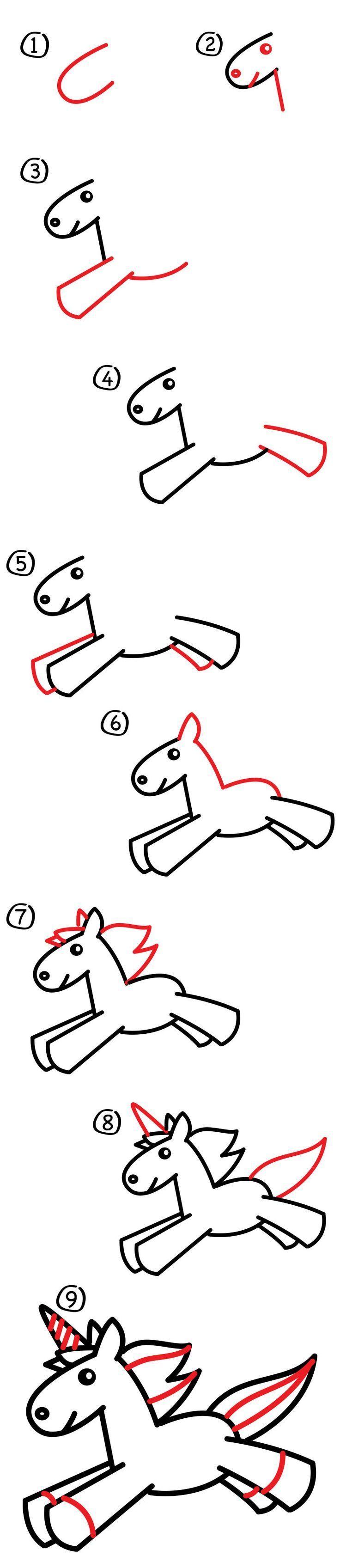 Learn How To Draw A Unicorn Step By Step Watch Our Short Video And Download Our Free Printable Einhorn Zeichnen Einfach Zeichnen Lernen Zeichnung