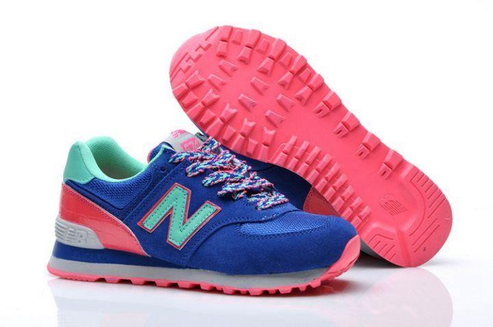 new balance 574 azul y rosa