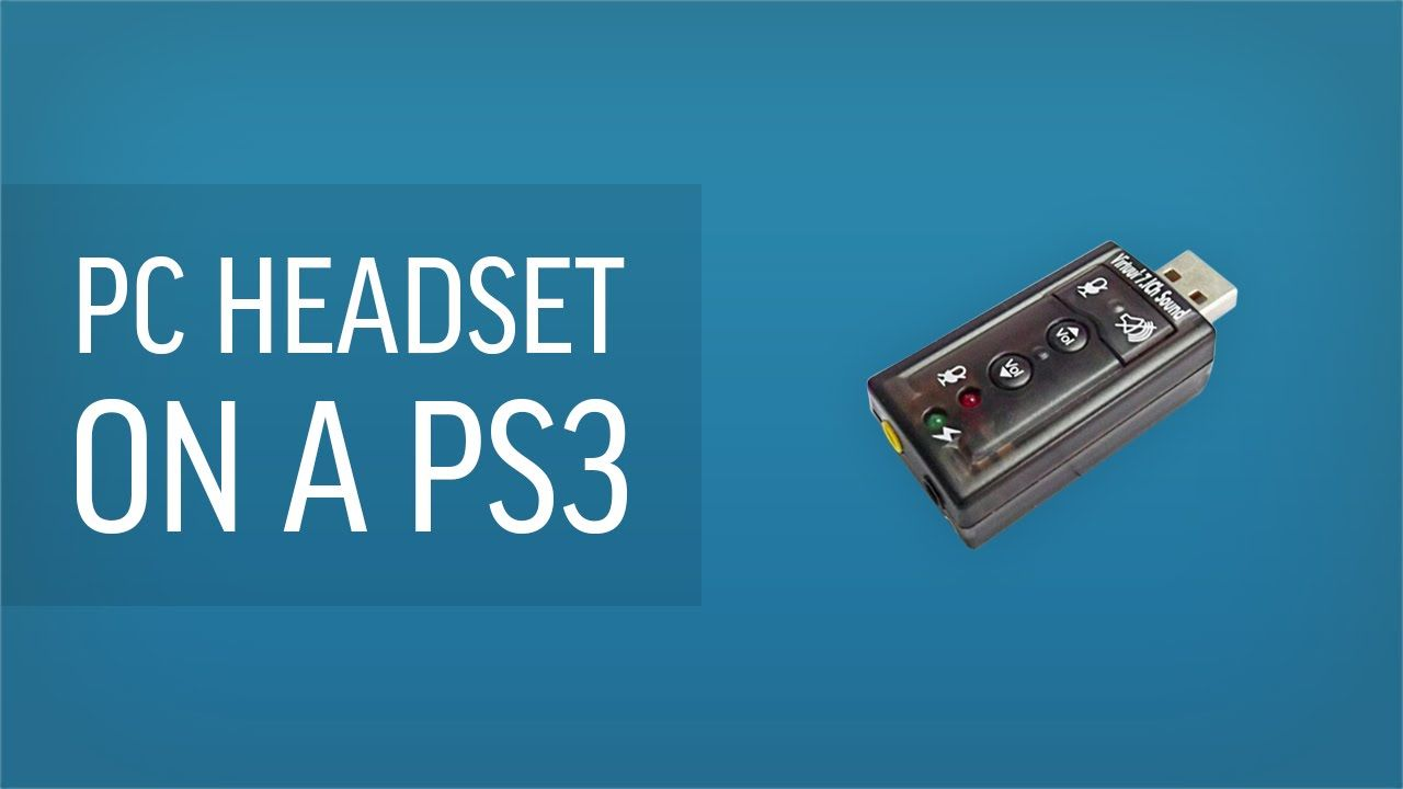 In this video I will show you how to use a PC headset or microphone with a PS3.