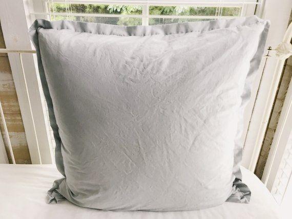 Grey Euro Shams Covers 26x26 Pillow