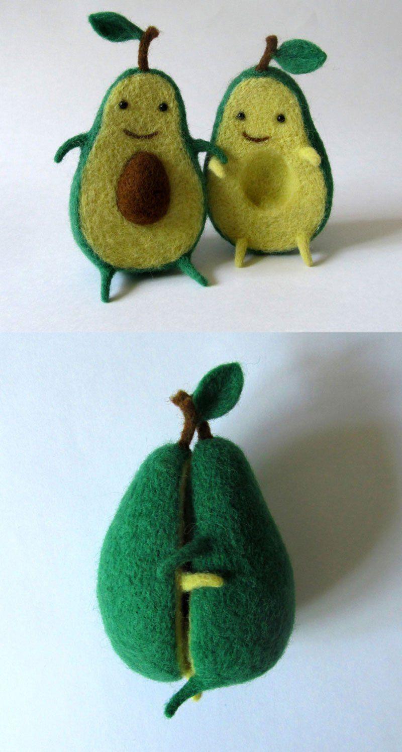 Avocado Love By Hanna Dovhan An Avocado Plush Toy And