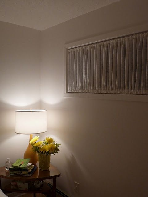 For Our Bedroom....curtains On Tension Rods For The Stupid Small Windows