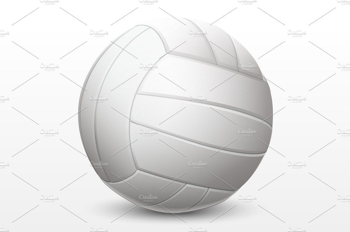 Volleyball Blue Yellow Volleyball Blue And White
