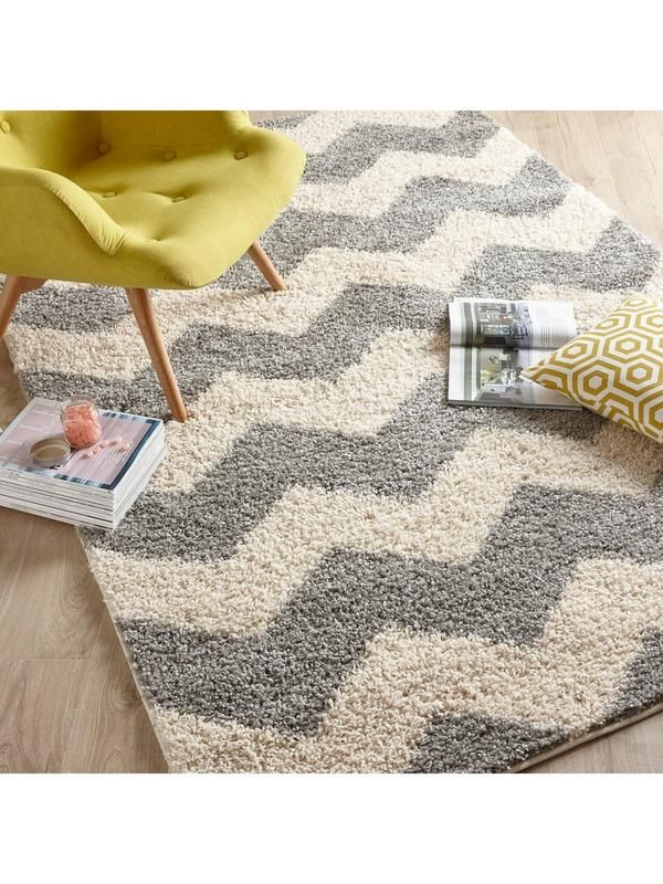Ideal Home Shaggy Chevron Rug In 2 Colour And 4 Size Options This By