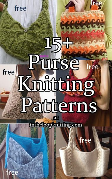 Bitty Bags Knitting Patterns Knit Patterns Patterns And Free