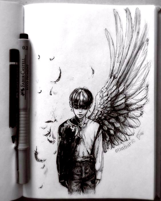 #sketch #doodle #pen #traditionalart #mangaart #kpop