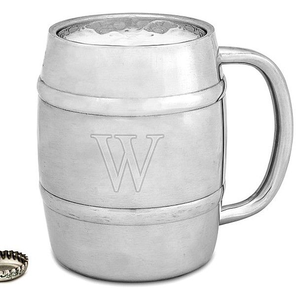 Personalized barrel keg beer mug gift next to bottle cap for size explore boyfriend ideas beer mugs and more negle Image collections