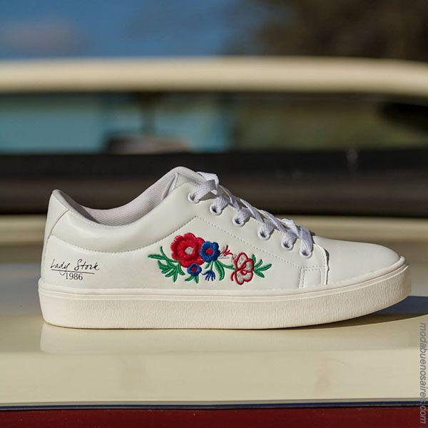 Moda en calzado femenino primavera verano 2018. Zapatillas Lady Stork 2018.