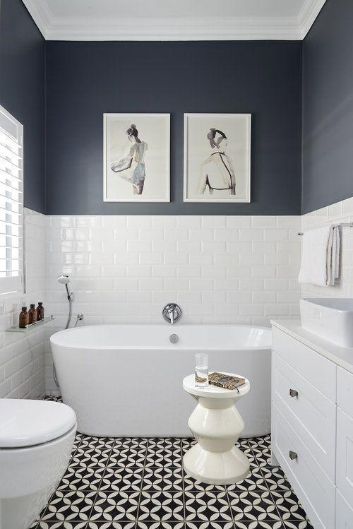 Photo of Halbe Wand blau auf dem Boden, wo Handtuchhalter ist der Rest der Wand voll blau rachelsanchez – Today Pin