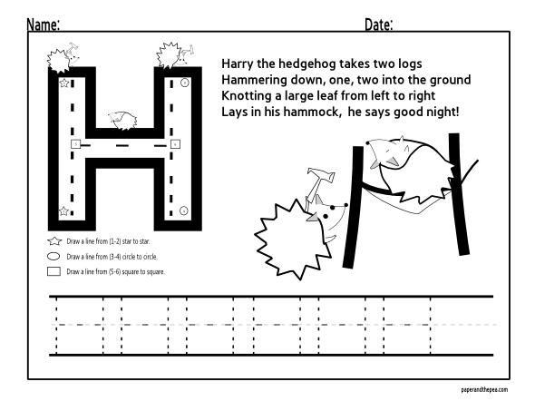 letter tracing worksheets letter h homeschool ideas pinterest letter tracing worksheets. Black Bedroom Furniture Sets. Home Design Ideas