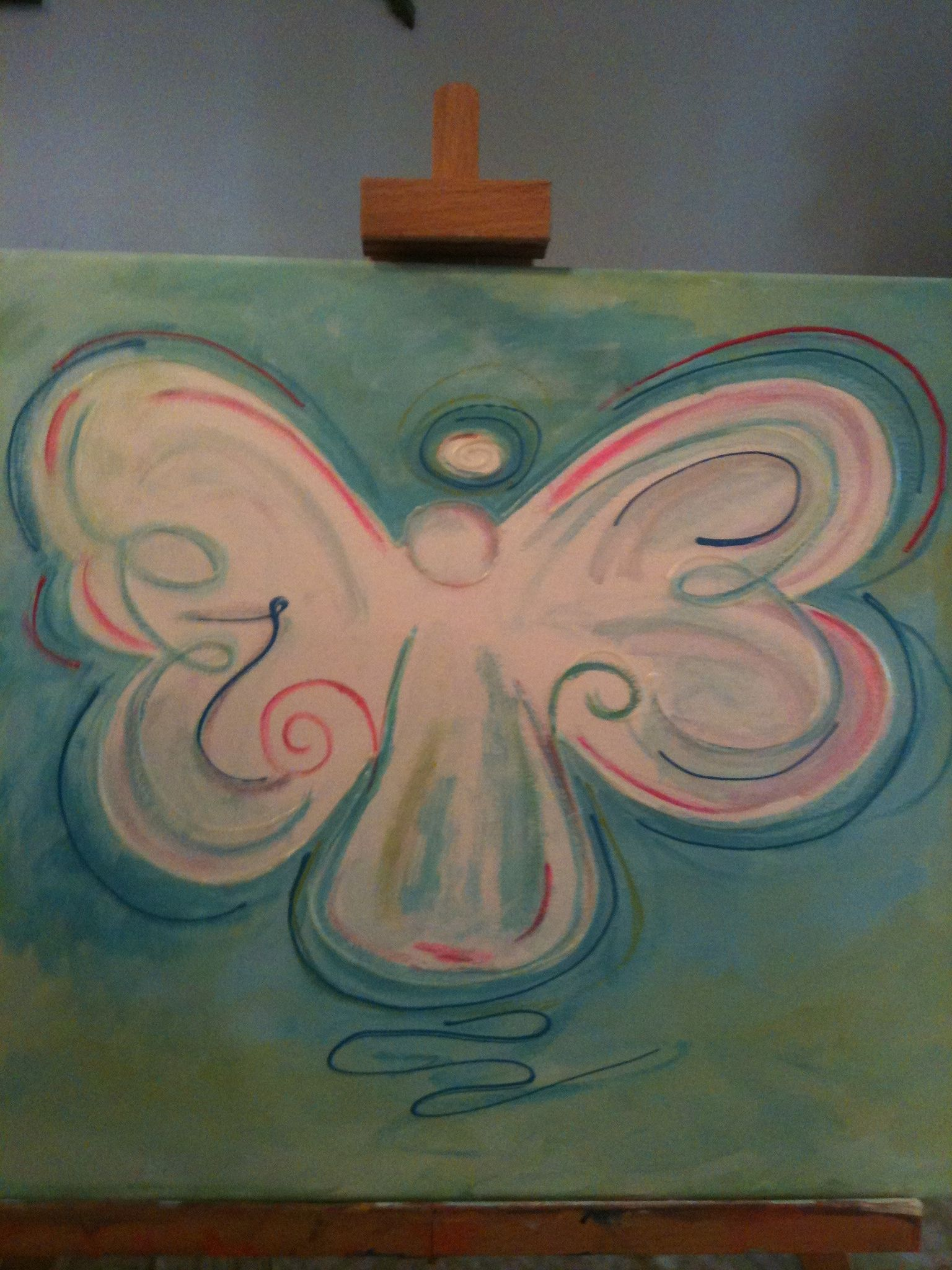 Angel For Children S Room Painted For Niece Canvas
