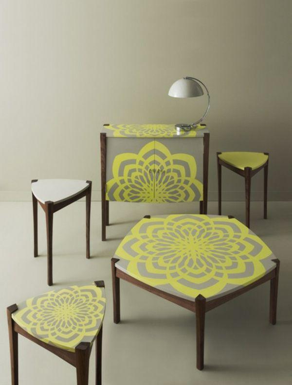 frisch dekorative Accessoires geometrisch tisch Wohnzimmer