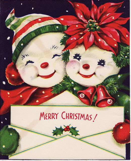 Merry Christmas! Love the Old Fashion Christmas Cards | Ho! Ho! Ho ...