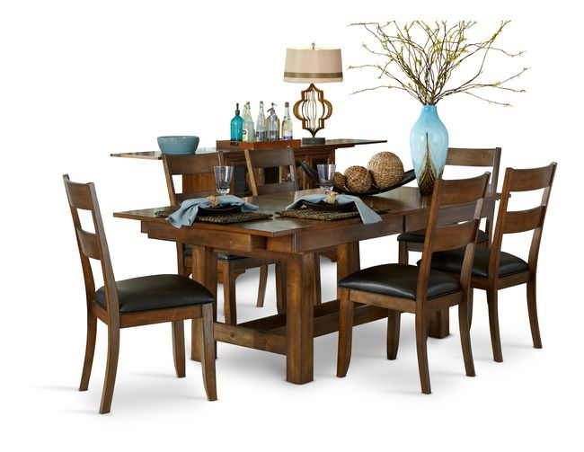 Mariposa Table and 4 Side Chairs is your solution to customized dining seating! Table measures 40