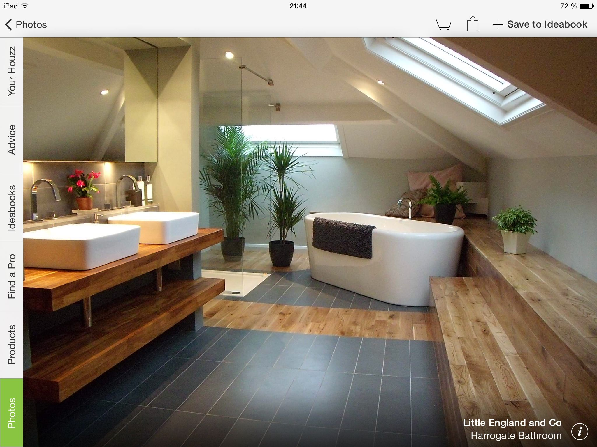 Magnifique l\'association du bois et du carrelage. | Salle de bain ...