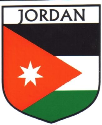 Flag Of Jordan Sticker