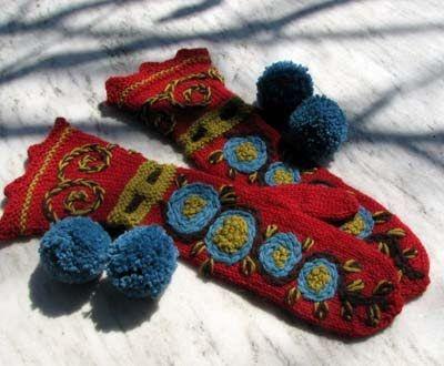 knitting mittens-Knitting Gallery