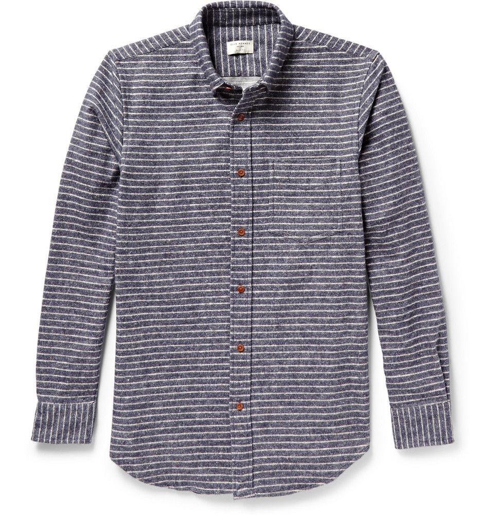 Flannel under shirt  Club Monaco  Striped ButtonDown Collar Flannel Shirt  MR PORTER