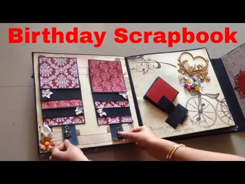 Birthday scrapbook ideas youtube scrapbooking