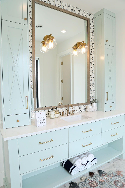 Utah Valley Parade Of Homes 2019 Light Blue Bathroom Blue Bathroom Vanity Blue Bathroom Interior