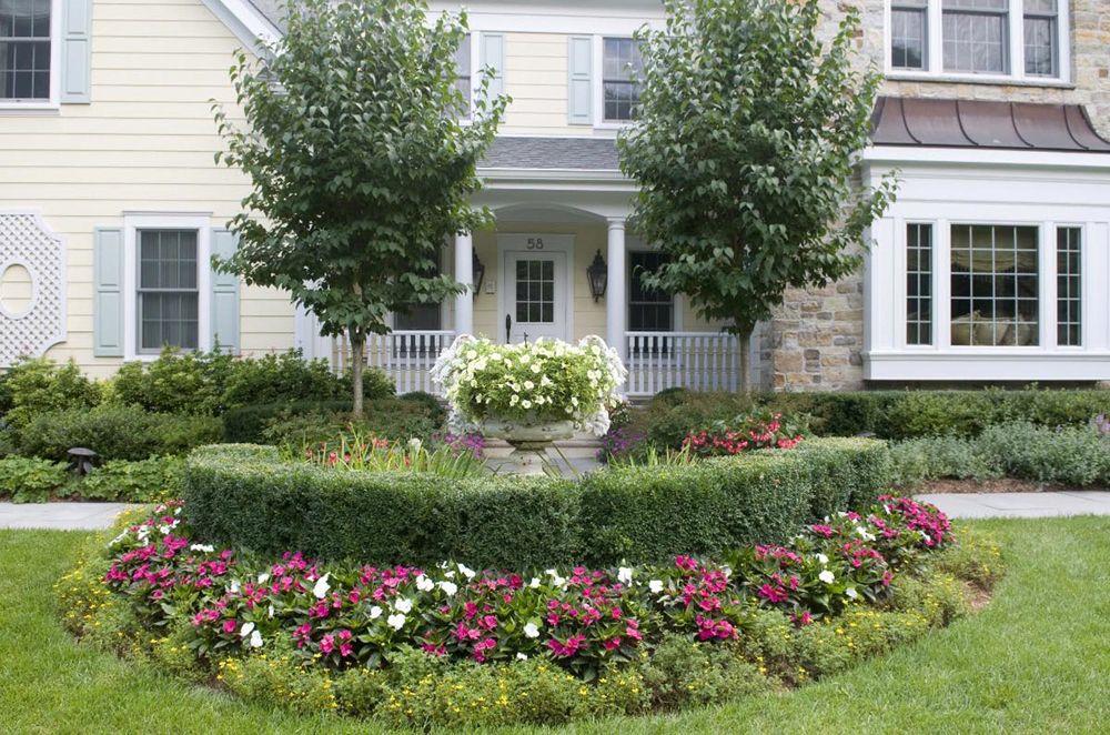 Front Yard Landscape Design - Bergen County, NJ | Front ... on Luxury Front Yard Landscape id=55656
