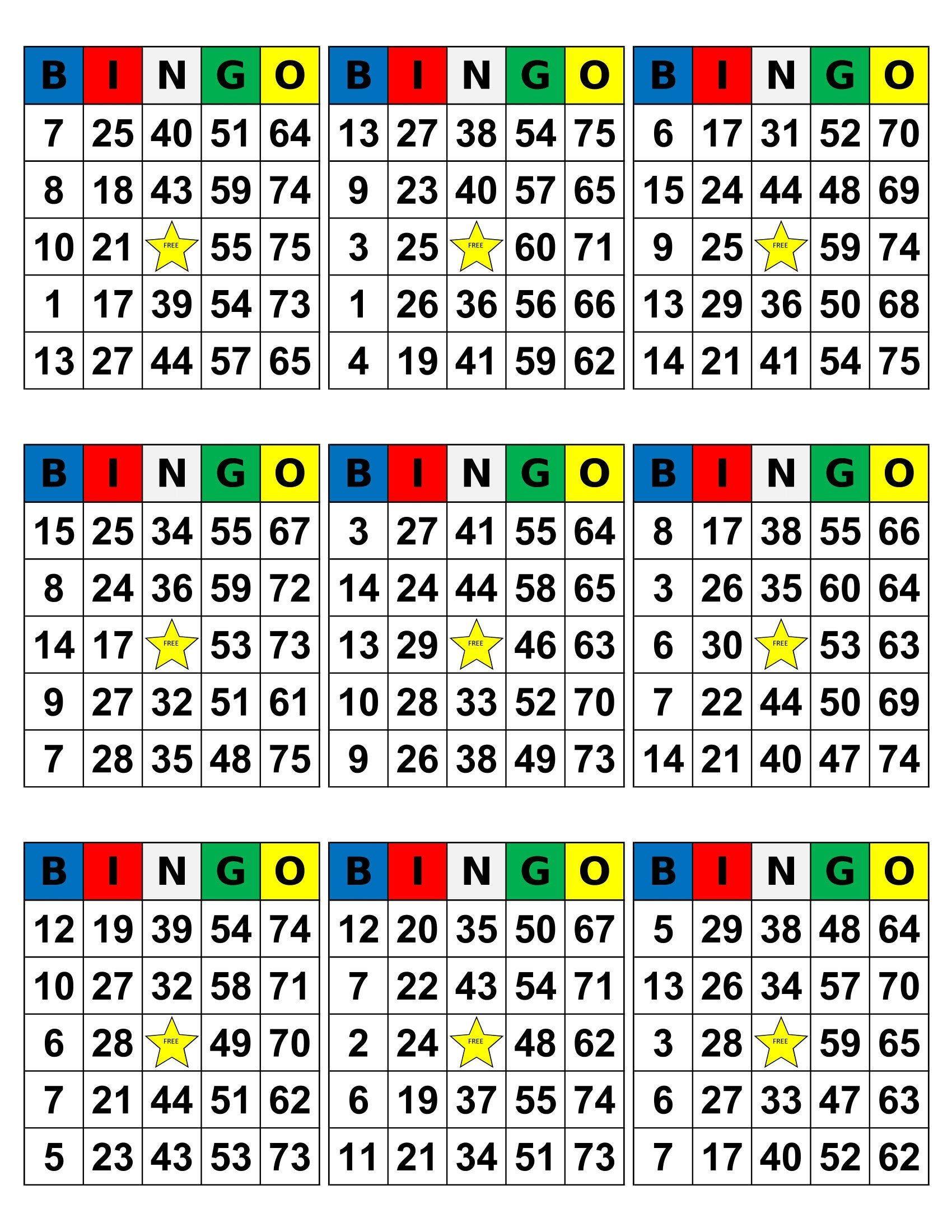 Bingo Cards 1008 Cards 9 Per Page Pdf Download Etsy Custom Bingo Cards Bingo Cards To Print Bingo Cards