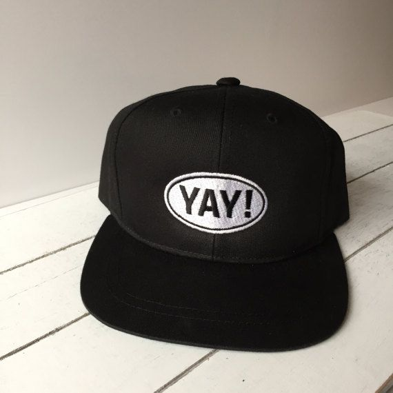 YAY Toddler   Kids Snapback Hat by MiniNoggins on Etsy bfde27f4db4