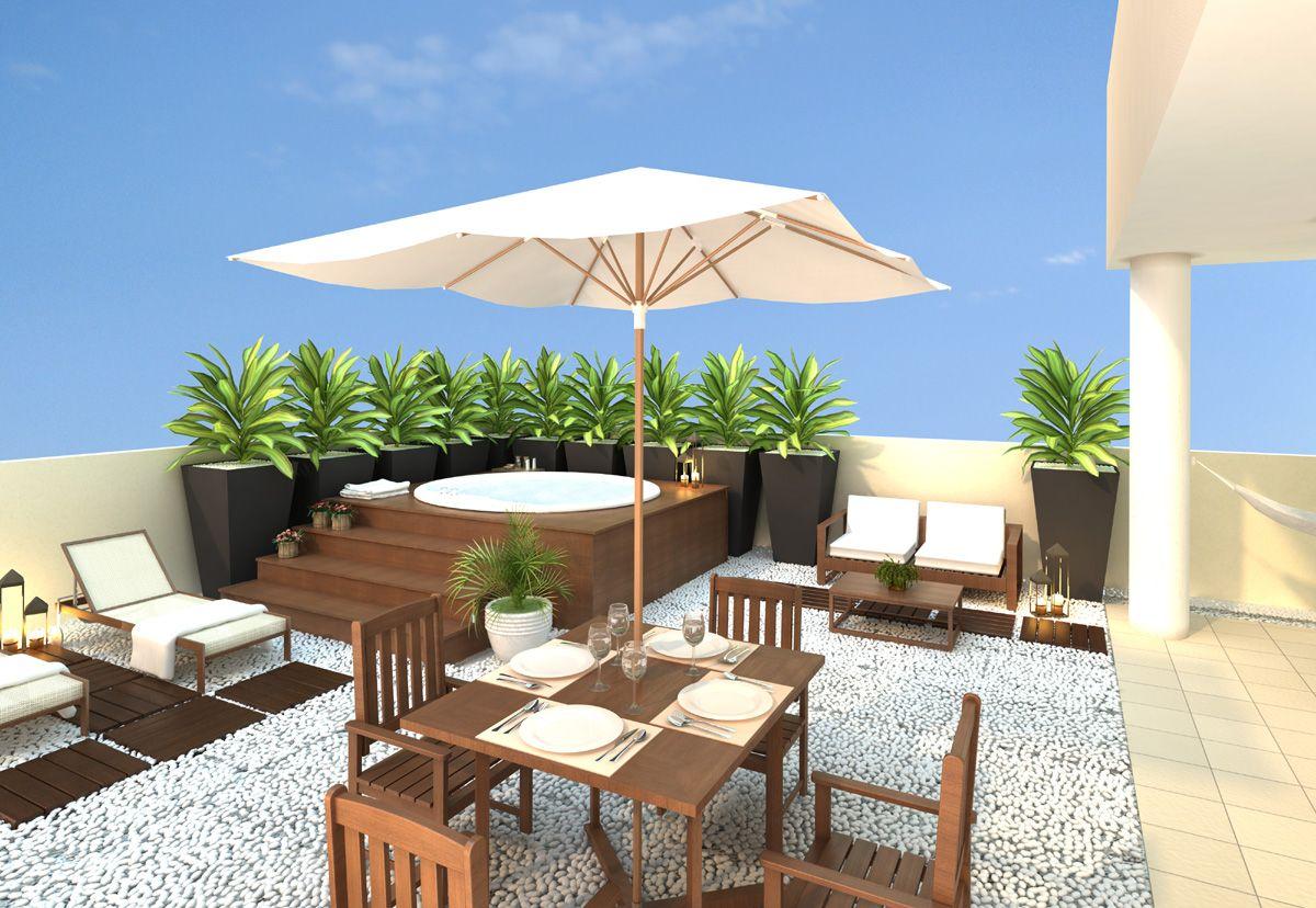 decoracao de cobertura pequena 4 Cozinha e Churrasqueira Pinterest Coberturas, Terraços e  -> Decoração De Terraço Com Churrasqueira