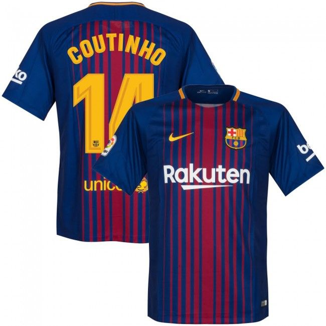 e9fbdd934f4 Camiseta del Barcelona 2017-2018 Local + Coutinho 14 (Dorsal Oficial)  #fcbarcelona