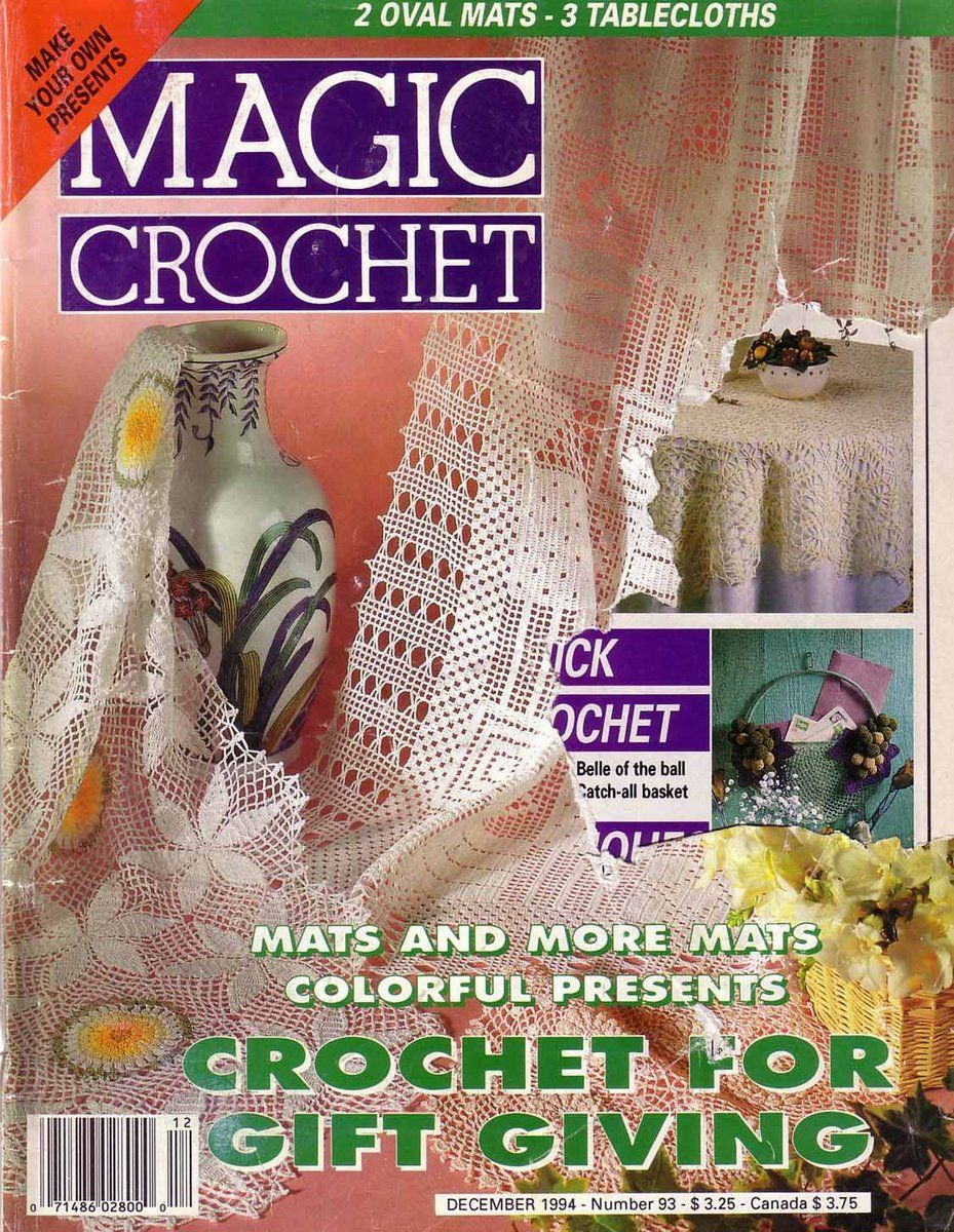Magic Crochet No 93 Free Patterns Books And Magazines Oval Doily Diagram Pinterest