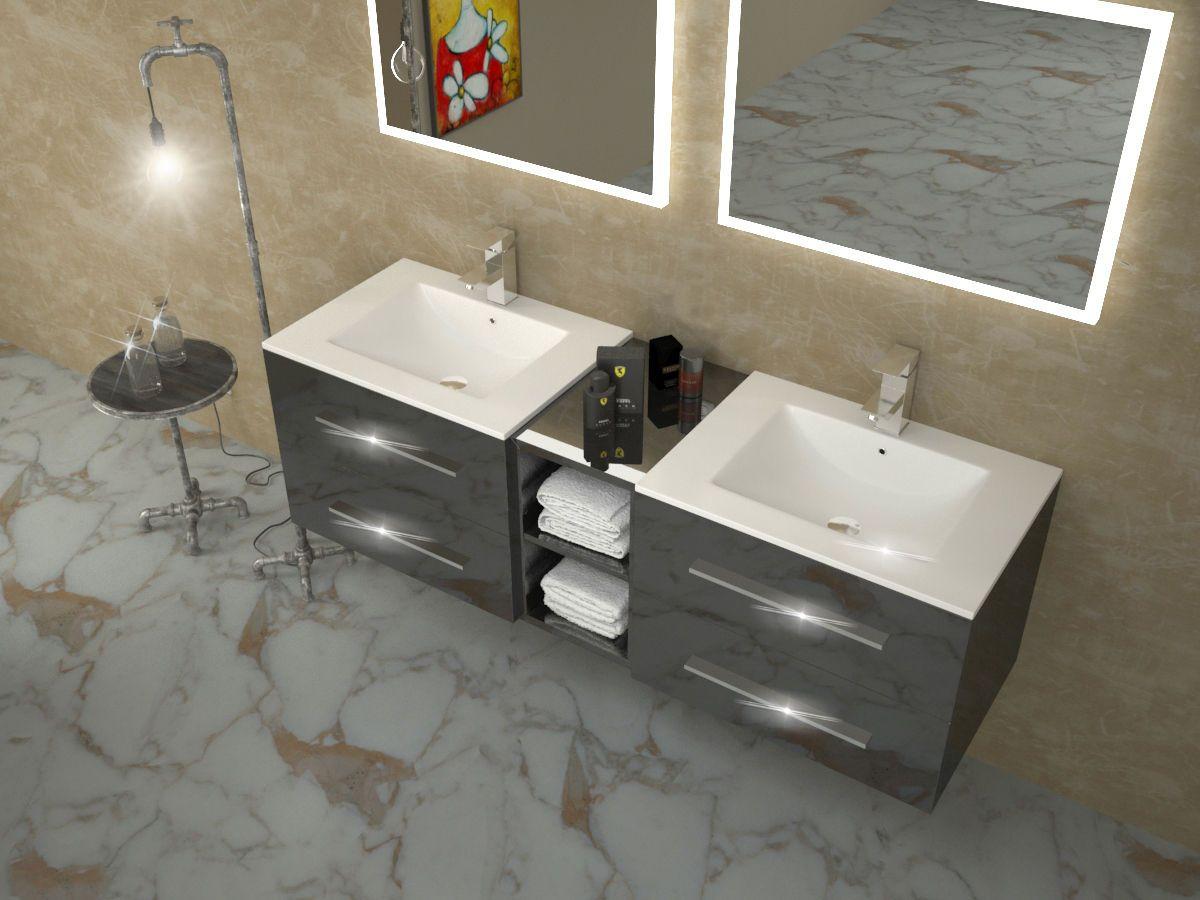 Bathroom Vanity 2 Two Drawer Cabinet