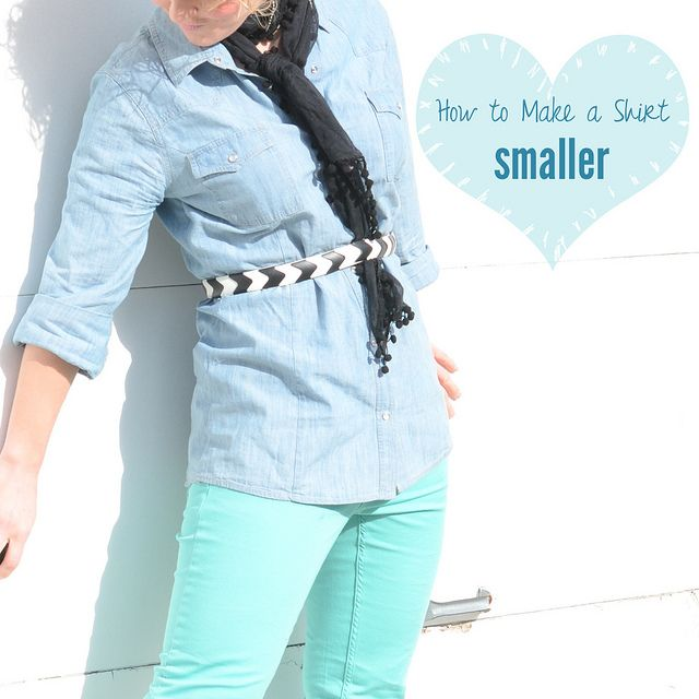 How to make a shirt smaller - great for Goodwill finds!