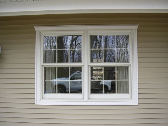 Two Double Hung Windows Side By