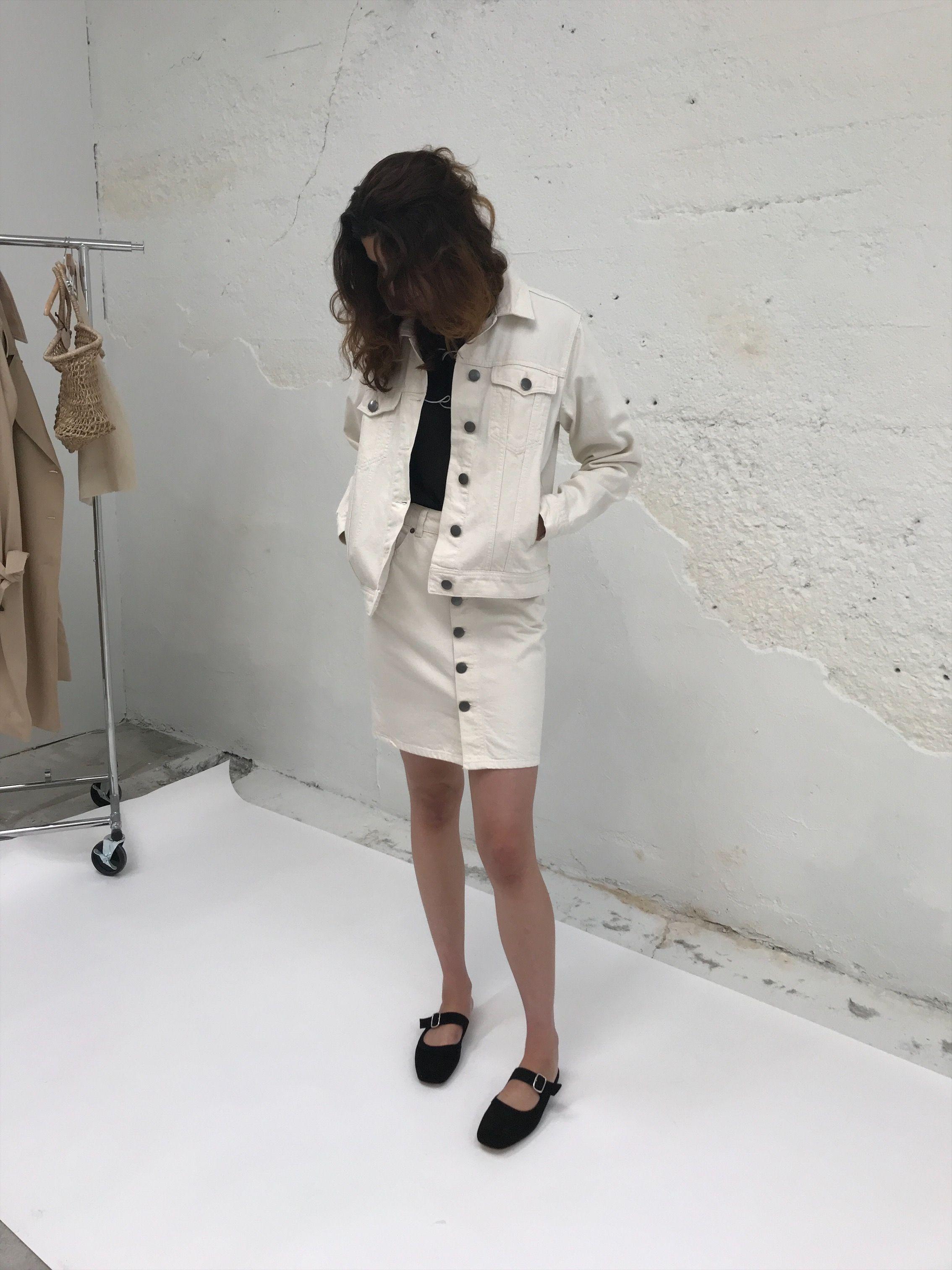 JUST FEMALE   Pauline Jacket - White Denim — Lisa Says Gah