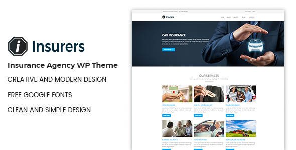 Insurers Insurance Agency Wordpress Theme Business Downloads