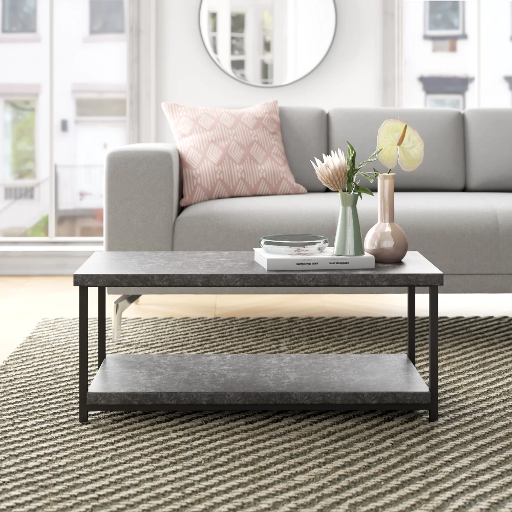 Slate Faux Concrete Coffee Table In 2020 Coffee Table Living Room Furniture Concrete Coffee Table