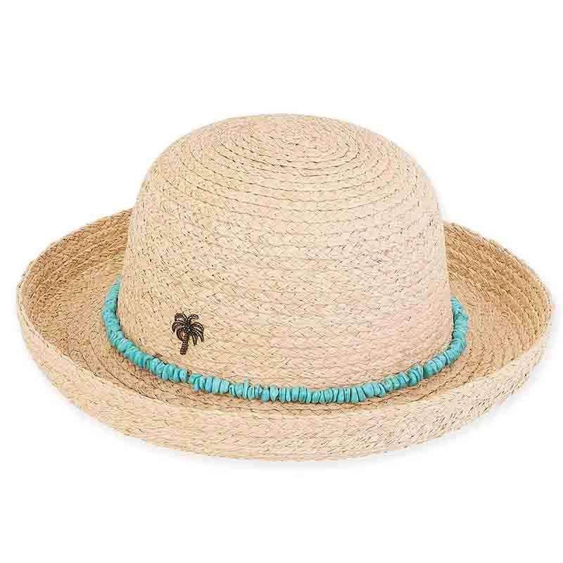 9b360c717a438 Kylie Raffia Breton with Turquoise Band - Sun  n  Sand — SetarTrading Hats
