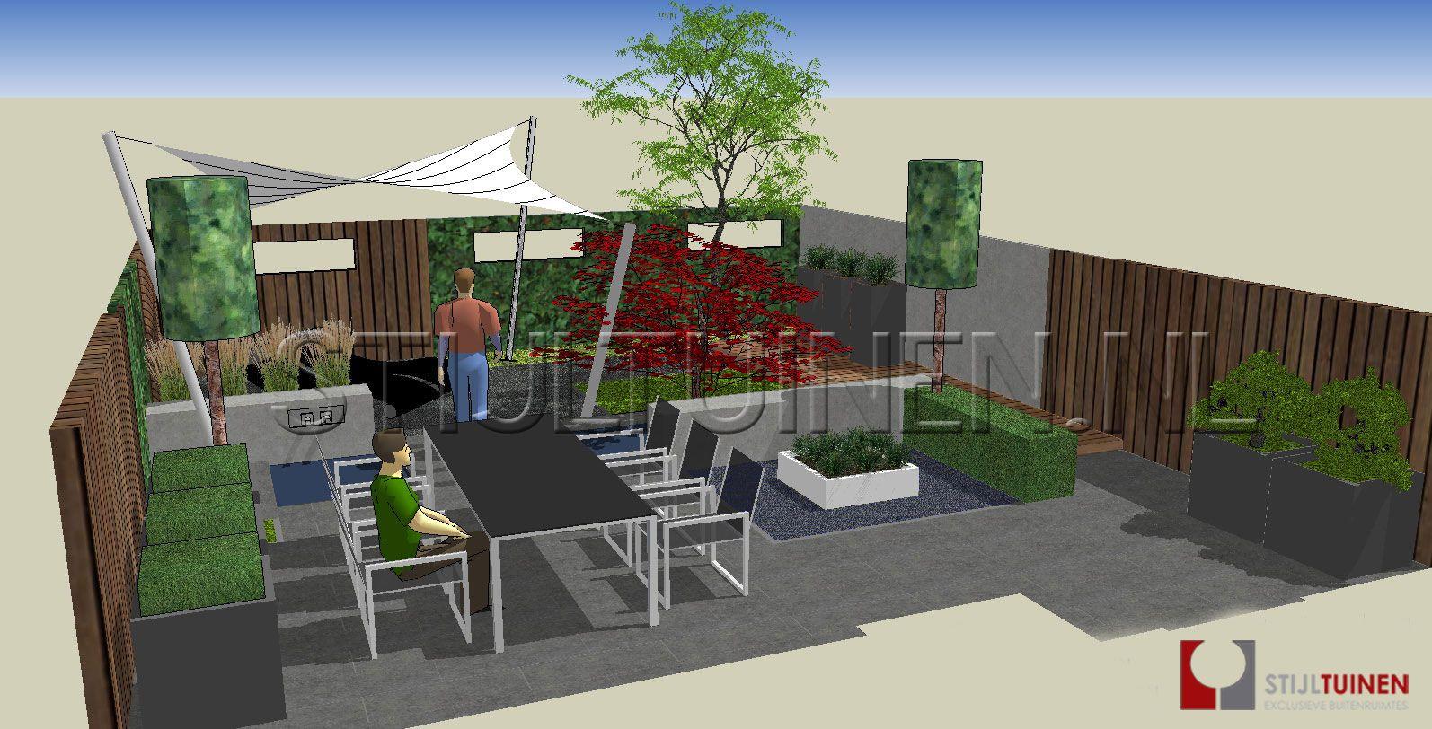 Eigentijdse en moderne tuin tuinontwerpen moderne tuin zuid