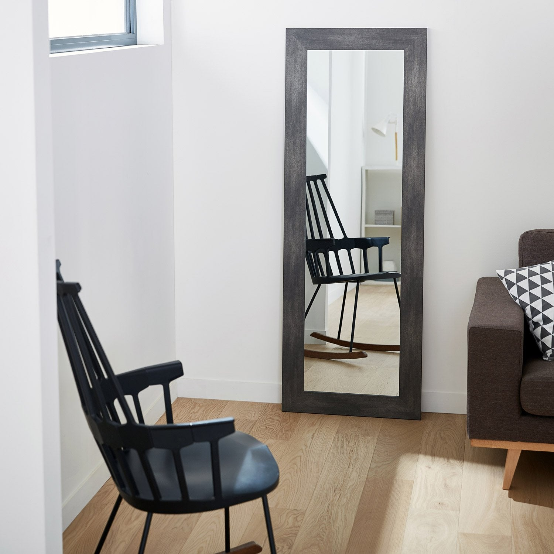 Miroir Loft Graphite L40 X H140 Cm Molduras Hergon