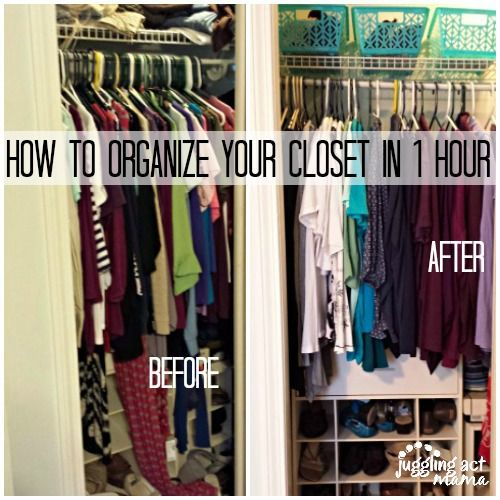 De Junk Challenge How To Organize Your Closets In An Hour Or Less