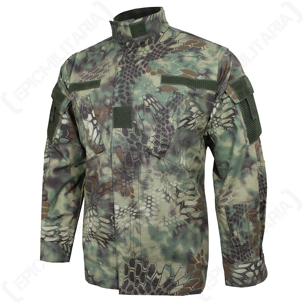 Mandra Woodland Camo US ACU Field Jacket | Jackets, Camo
