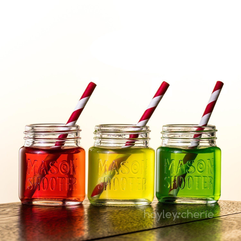 Hayley Cherie Mason Jar Shot Glasses with