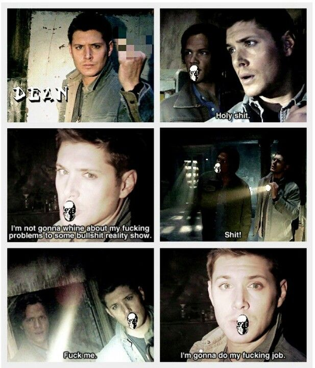 Ghostfacers = lots of swearing Becuase they finally have a valid reason to  bleep it out :D | Supernatural funny, Supernatural, Supernatural cast