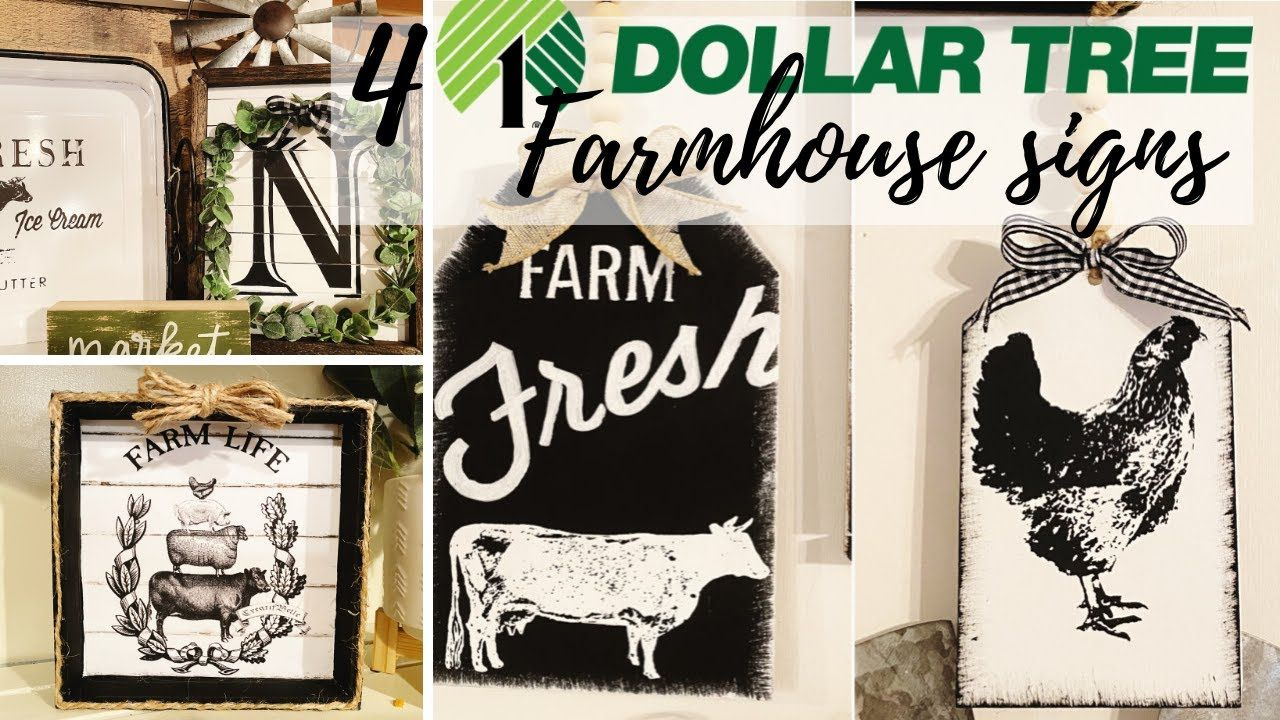 4 DOLLAR TREE DIY'S | DOLLAR TREE FARMHOUSE SIGNS | NEW DOLLAR TREE DIY'S 2020