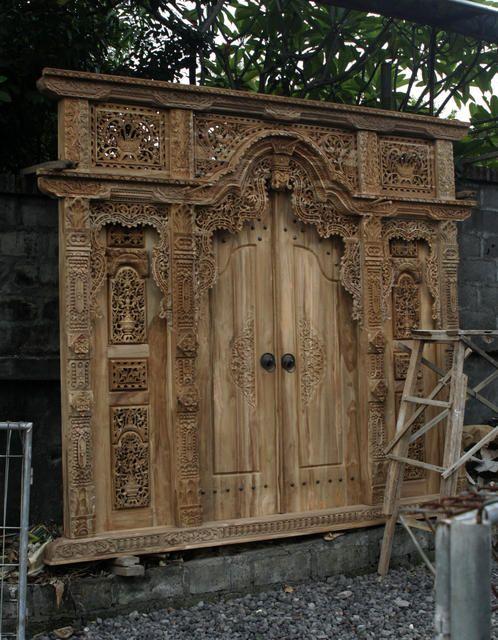 Balinese/Javanese Front door. Will have this in my house someday! & Balinese/Javanese Front door. Will have this in my house someday ... Pezcame.Com