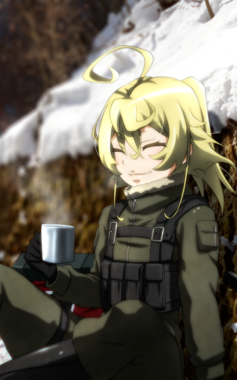 Anime Youjo Senki Tanya Degurechaff 800x1280 Mobile Wallpaper Anime Tanya The Evil Anime Military