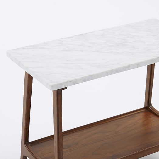 factory authentic 9077c 9e69d Reeve Side Table Long Narrow, Marble/Walnut   Home Deco ...