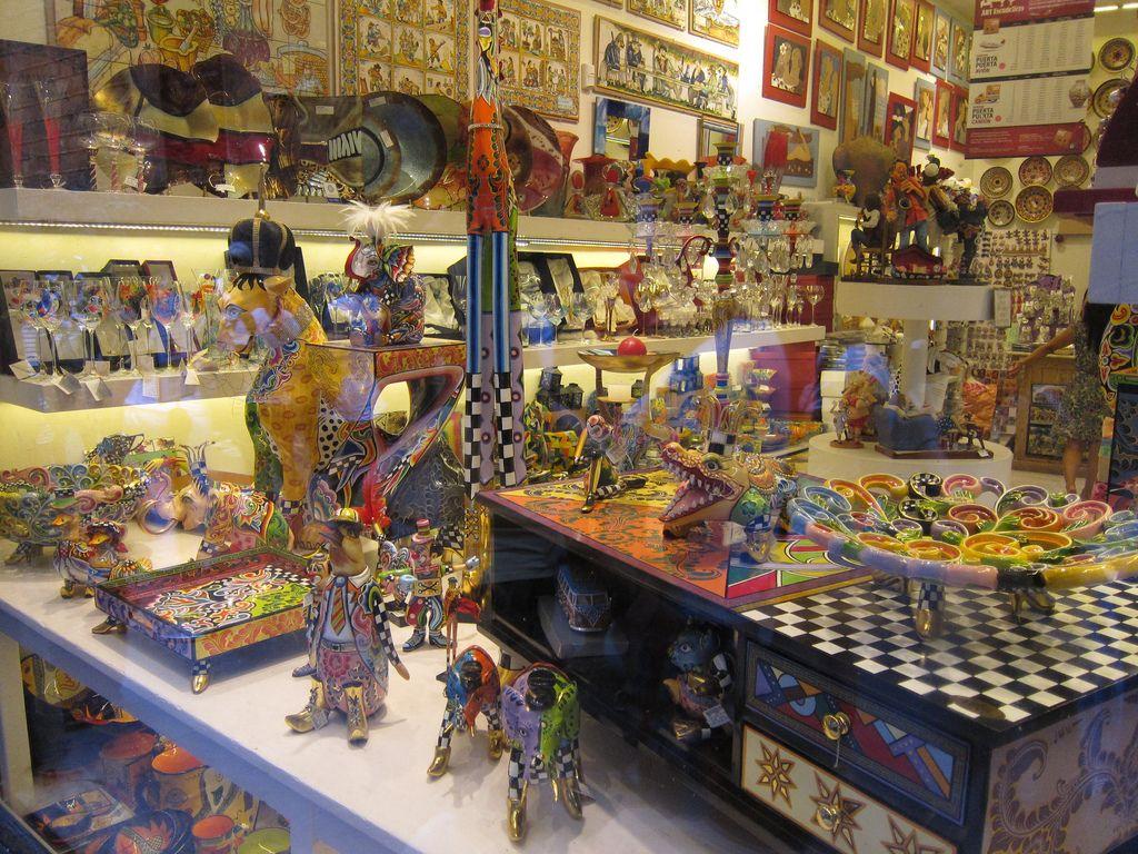 The Souvenir Store near the Picasso Museum, Barcelona.